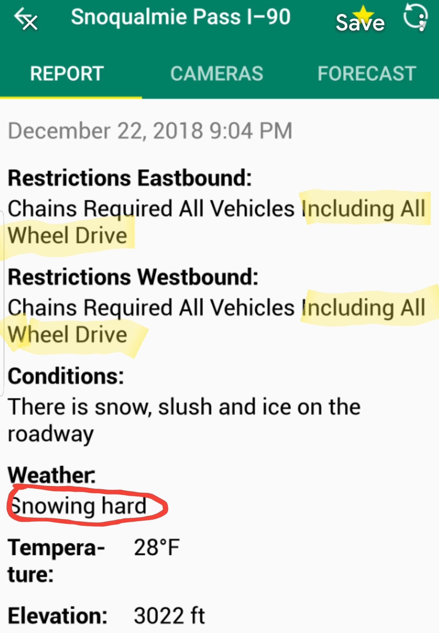 snoqualmie pass chains required on all vehicles