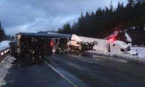 I-90 Semi truck accident