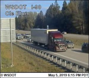 I-90 Cle Elum traffic Spring 2019