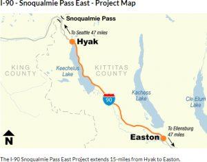 I-90 Snoqualmie Pass construction plans